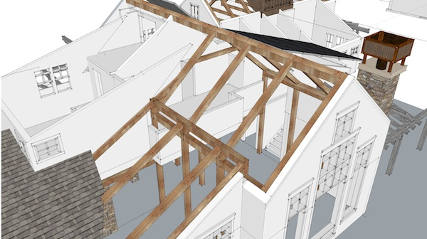 Timber Frame Structure In Design