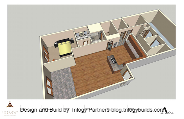 Floor plan for remodeled Baldy Townhome