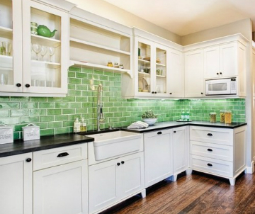 "Here are some great ""green"" tips to help you make the most of recycled tips in your kitchen. Source: Houzz"