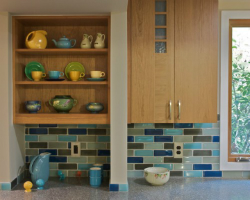 Oceanside glass tile, Trend USA tile, and Fireclay tile are three eco-friendly materials that you should consider when preparing to incorporate tile into your home. Source: Houzz